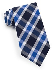 Lord And Taylor Lex Plaid Tie Blue
