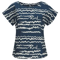 Karl Lagerfeld Women's Jacquard Scribble Top Blue
