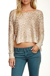 Chaudry Animal Print Sweater Beige