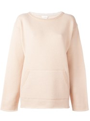 Chloe Pocket Jumper Pink And Purple