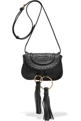 See By Chloe Polly Tasseled Leather Shoulder Bag Black