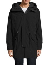 Cole Haan Leather Trim Insulated Anorak Black