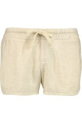 James Perse Linen Crepe Shorts White