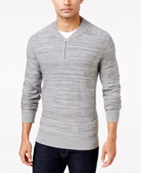 Alfani Men's Regular Fit Baseball Collar Sweater Only At Macy's Flint Heather Marl