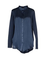 Alpha Studio Shirts Slate Blue