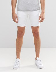 Minimum Denim Shorts White