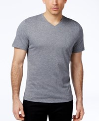 Alfani Red Men's Fitted V Neck T Shirt Only At Macy's Slate Heather