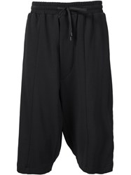 Public School Wide Leg Shorts Black