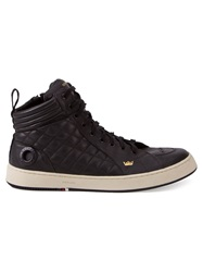 Osklen Hi Top Quilted Trainers Black