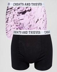 Cheats And Thieves 2 Pack Trunks Pink