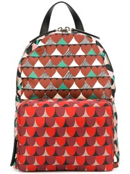 Red Valentino Mixed Print Backpack Multicolour