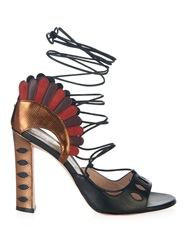 Paula Cademartori Lotus Lace Up Sandals