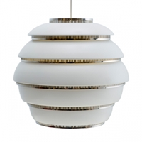 Aalto A331 Beehive Ceiling Lamp Chrome Pendants Lighting Finnish Design Shop