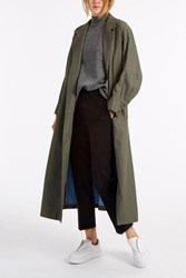 Rachel Comey Zia Coated Trench Coat Green
