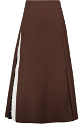 Marni Felt Midi Skirt Brown