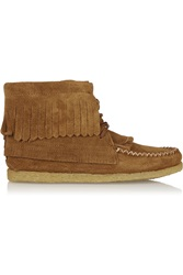 Finds Aztec 1955 Fringed Suede Ankle Boots Brown