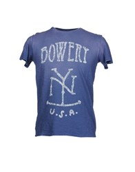 Bowery Topwear Short Sleeve T Shirts Men Blue