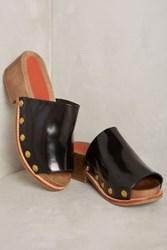 Anthropologie Rachel Comey Dover Clogs Black Satinado
