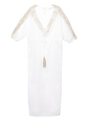 Emamo Embroidered Trim Long Kaftan