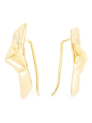 Jennifer Fisher Ribbon Earrings Metallic