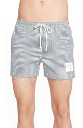 Men's Thom Browne Stripe Seersucker Shorts