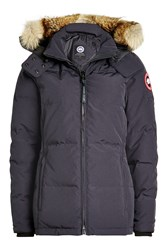Canada Goose Chelsea Down Filled Parka With Fur Trimmed Hood Blue
