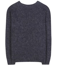 Acne Studios Dramatic Mohair And Wool Blend Sweater Blue