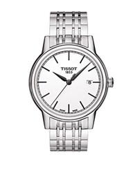 Tissot Mens Carson Stainless Steel Watch Silver