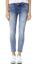 Mother The Looker Ankle Fray Jeans Double Time