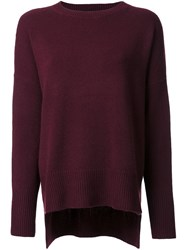 Theory Crew Neck Sweater Red