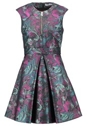 Versace Collection Cocktail Dress Party Dress Turquoise