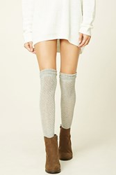 Forever 21 Open Knit Over The Knee Socks
