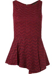 Cecilia Prado Sleeveless Knitted Blouse Red