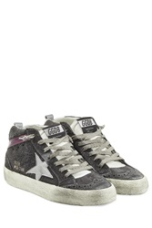 Golden Goose Mid Star Suede Sneakers With Leather Grey