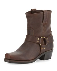 Frye Harness 8R Leather Bootie Dark Brown