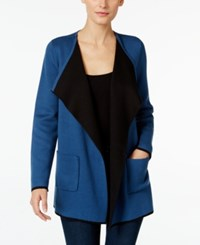 Alfani Petite Colorblocked Open Front Cardigan Only At Macy's Global Blue