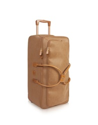 Bric's Life Large Camel Micro Suede Rolling Duffle Bag