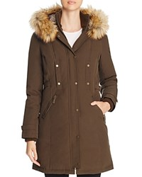 Vince Camuto Active Long Puffer Coat Olive