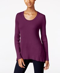 Styleandco. Style Co. Petite Scoop Neck Sweater Only At Macy's Magenta Blossom