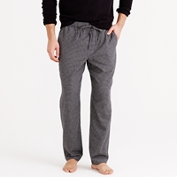 J.Crew Flannel Pajama Pant In Check Seattle Grey