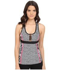 Trina Turk Pop Tropics Tank Top With Removable Cups Multi Women's Sleeveless