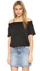 Ella Moss Bella Cold Shoulder Top Black