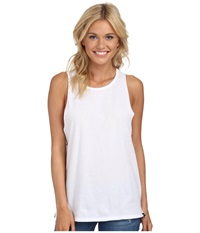 Hurley Solid Riot Biker Tank White Women's Sleeveless