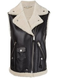 Coach Shearling Jacket Black