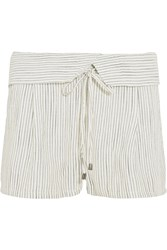 Splendid Marina Striped Woven Shorts Off White