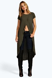Anna Wrap Front Woven Tunic Top