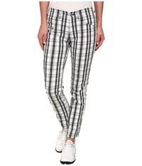 Bogner Vilma G Checkered Ankle Pants White Black Grey Women's Casual Pants