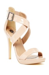 Michael Antonio Luckey Patent Heel Pump Beige