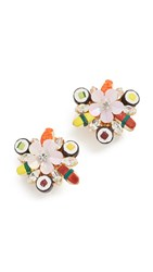 Venessa Arizaga Sushi Platter Clip On Earrings Multi