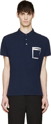 Marc By Marc Jacobs Navy Patch Pocket Polo